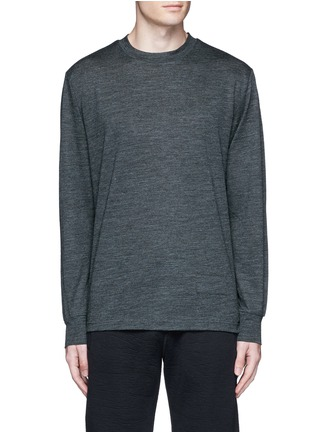Main View - Click To Enlarge - T By Alexander Wang - Patch wool mélange T-shirt