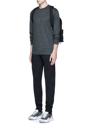 Figure View - Click To Enlarge - T By Alexander Wang - Patch wool mélange T-shirt