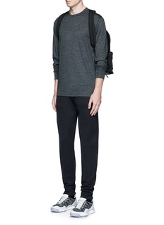 T By Alexander Wang Patch wool mélange T-shirt