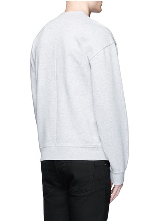 Back View - Click To Enlarge - T By Alexander Wang - Vintage fleece cotton blend sweatshirt