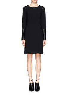 RAG & BONE Howard' leather panel crepe dress