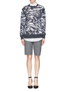 ALEXANDER WANG  Abstract paisley gauze insert sweater