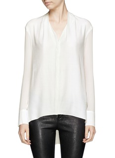 HELMUT LANG Drape sheer sleeve shirt
