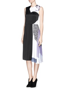 3.1 PHILLIP LIM Floral collage print shadow dress