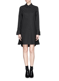 3.1 PHILLIP LIM Basket weave panel poplin shirt dress