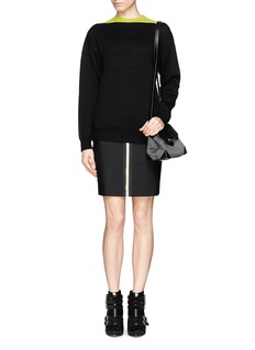 ALEXANDER WANG  Multigauge colourblock merino wool sweater