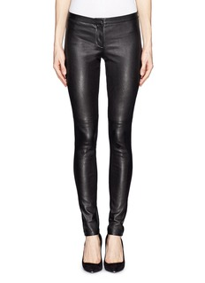 THEORY 'Pittella' stretch leather pants