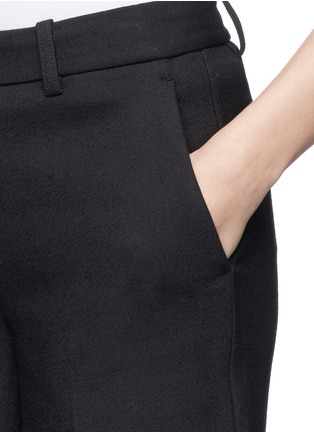 Detail View - Click To Enlarge - Theory - 'Inza' cropped flare wool pants