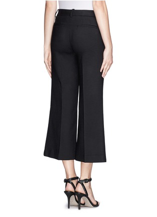 Back View - Click To Enlarge - Theory - 'Inza' cropped flare wool pants