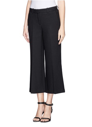 Front View - Click To Enlarge - Theory - 'Inza' cropped flare wool pants