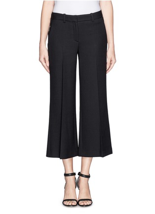 Main View - Click To Enlarge - Theory - 'Inza' cropped flare wool pants