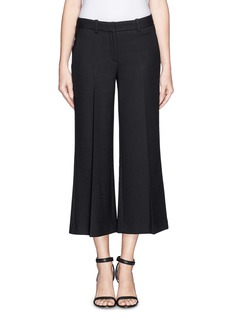 THEORY 'Inza' cropped flare wool pants