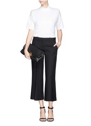 Figure View - Click To Enlarge - Theory - 'Inza' cropped flare wool pants