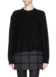3.1 PHILLIP LIMAlpaca-cashmere contrast knit sweater