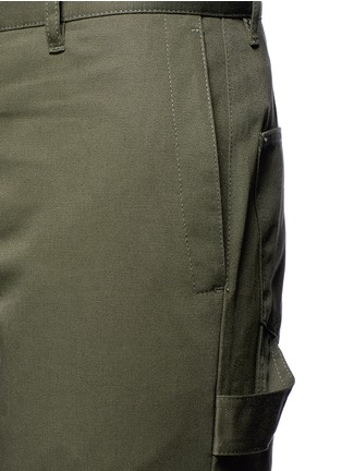 Detail View - Click To Enlarge - Balenciaga - Slim fit cotton cargo pants