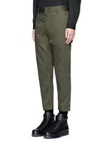 Slim fit cotton cargo pants