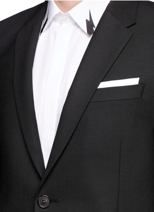 Detail View - Click To Enlarge - Neil Barrett - Slim fit stretch gabardine suit