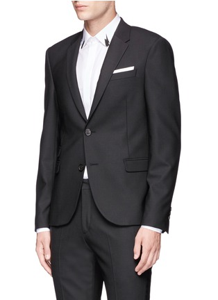 Front View - Click To Enlarge - Neil Barrett - Slim fit stretch gabardine suit