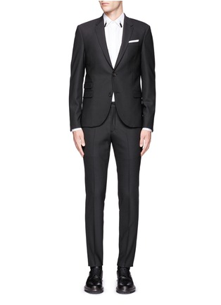 Main View - Click To Enlarge - Neil Barrett - Slim fit stretch gabardine suit