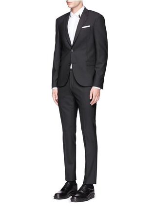 Figure View - Click To Enlarge - Neil Barrett - Slim fit stretch gabardine suit