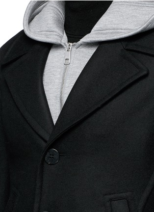 Detail View - Click To Enlarge - Neil Barrett - Slim fit vest underlay wool peacoat