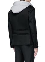 Slim fit vest underlay wool peacoat