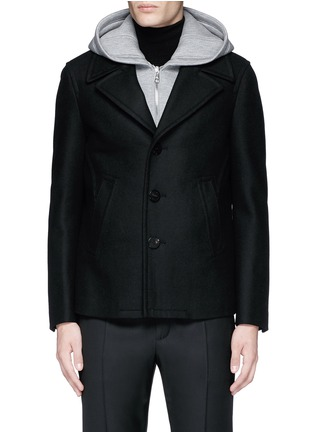 Main View - Click To Enlarge - Neil Barrett - Slim fit vest underlay wool peacoat