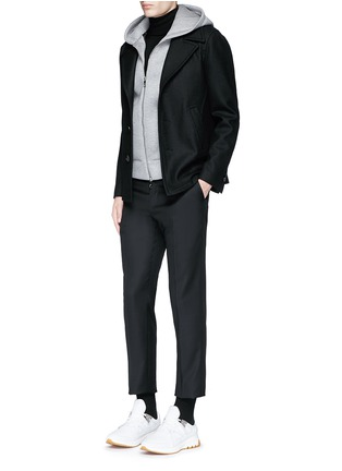 Figure View - Click To Enlarge - Neil Barrett - Slim fit vest underlay wool peacoat