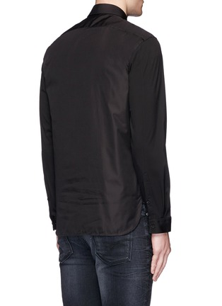 Back View - Click To Enlarge - Neil Barrett - Thunderbolt print poplin shirt
