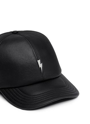 Detail View - Click To Enlarge - Neil Barrett - Thunderbolt bonded leather baseball cap