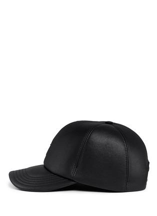 Figure View - Click To Enlarge - Neil Barrett - Thunderbolt bonded leather baseball cap