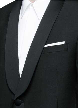 Detail View - Click To Enlarge - Neil Barrett - Satin shawl lapel tuxedo blazer
