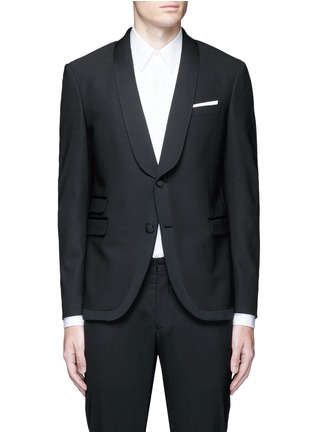 Main View - Click To Enlarge - Neil Barrett - Satin shawl lapel tuxedo blazer