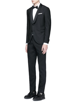 Figure View - Click To Enlarge - Neil Barrett - Satin shawl lapel tuxedo blazer