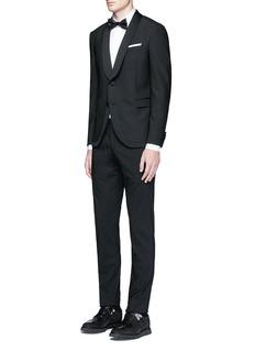 Neil BarrettSatin shawl lapel tuxedo blazer