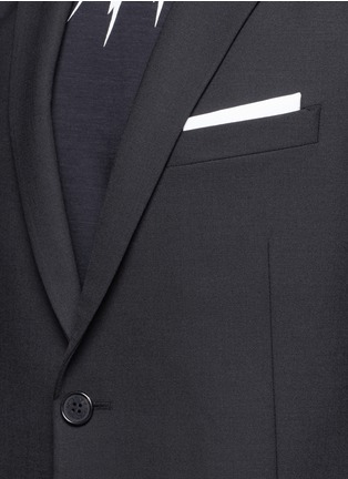 Detail View - Click To Enlarge - Neil Barrett - Slim fit bistretch gabardine blazer