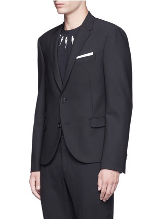 Front View - Click To Enlarge - Neil Barrett - Slim fit bistretch gabardine blazer