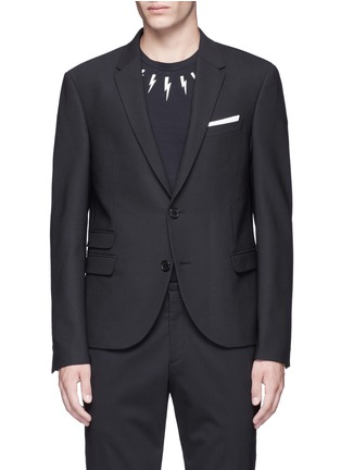 Main View - Click To Enlarge - Neil Barrett - Slim fit bistretch gabardine blazer