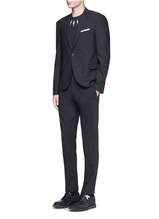 Figure View - Click To Enlarge - Neil Barrett - Slim fit bistretch gabardine blazer