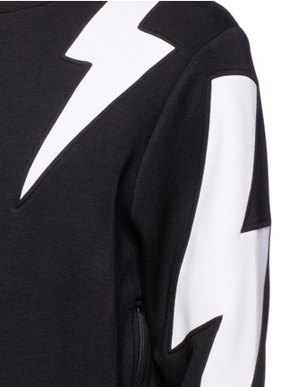 Detail View - Click To Enlarge - Neil Barrett - 'Thunderbolt' print zip side sweatshirt