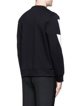 Back View - Click To Enlarge - Neil Barrett - 'Thunderbolt' print zip side sweatshirt