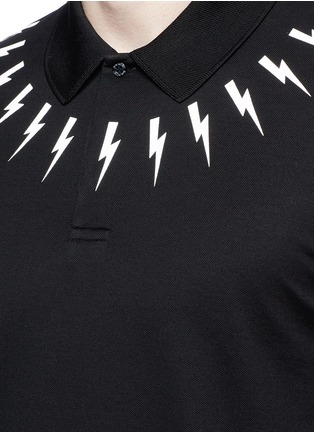 Detail View - Click To Enlarge - Neil Barrett - Thunderbolt print polo shirt