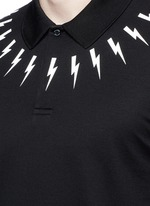 Thunderbolt print polo shirt