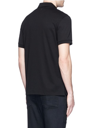 Back View - Click To Enlarge - Neil Barrett - Thunderbolt print polo shirt