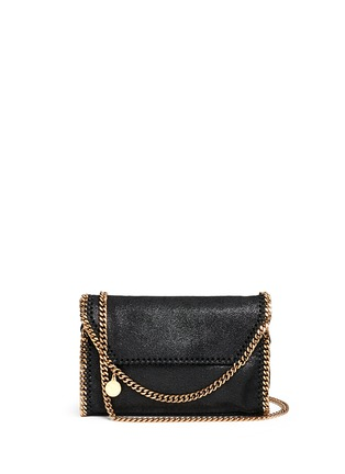 Main View - Click To Enlarge - Stella McCartney - 'Falabella' mini shaggy deer crossbody chain bag