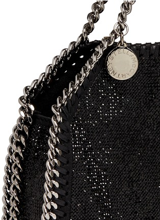 Detail View - Click To Enlarge - Stella McCartney - 'Falabella' tiny crystal pavé crossbody chain tote