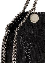 'Falabella' tiny crystal pavé crossbody chain tote