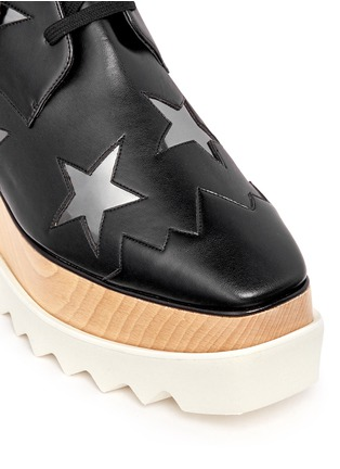 Detail View - Click To Enlarge - Stella McCartney - 'Elyse' star alter nappa wood platform boots