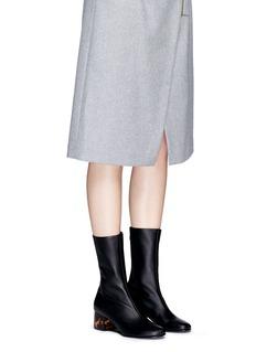 Stella McCartneyTortoiseshell effect acetate heel alter nappa boots