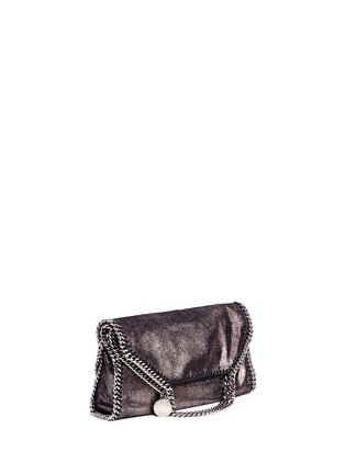 Front View - Click To Enlarge - Stella McCartney - 'Falabella' small shaggy deer foldover chain tote